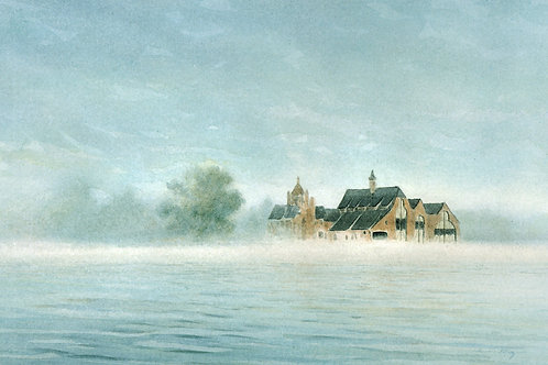 Morning Mist Boldt Castle Yacht House