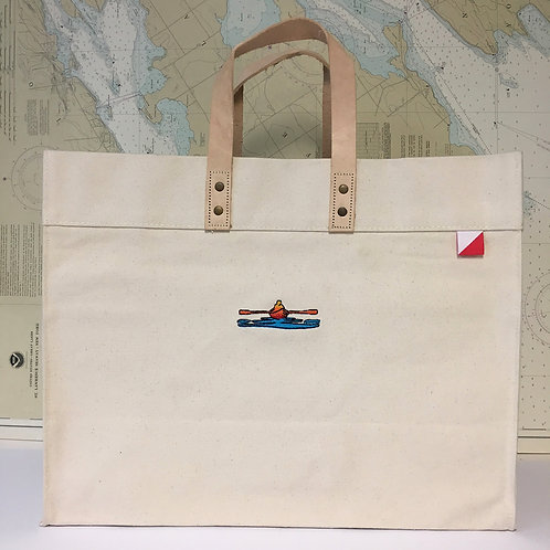 Box Tote - Leather Handles -  Ultimate Tote Bag