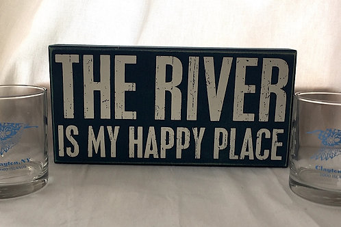 The River Is My Happy Place &  2 Clayton Glasses