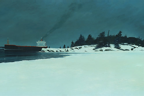 Freighter at North Colbourne