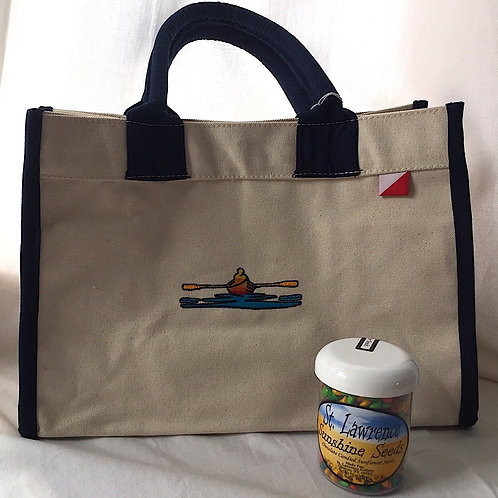 Canvas Bag W/ Rower Logo & St. Lawrence Sunflower Seeds