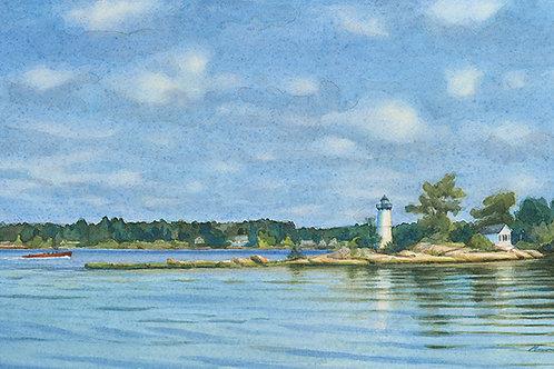 Cruising Past Rock Island Lighthouse