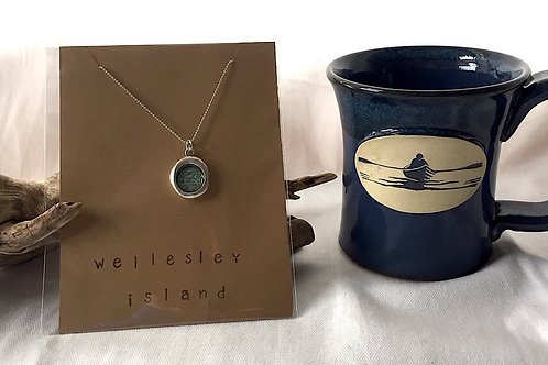 Wellesley Island Necklace & River Rower Mug