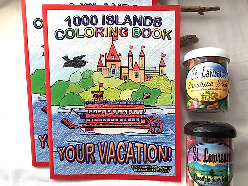 Coloring Book Set, River Rocks & Sunflower Seeds
