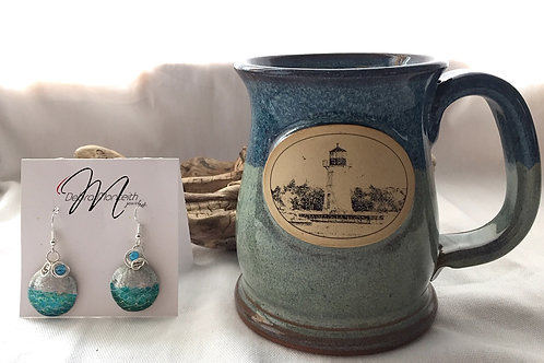 Lighthouse Mug & Earring Set