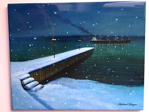 "Christmas On The River 8"" X 10"""