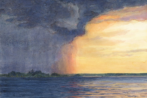 Stormcloud Over Calumet Island