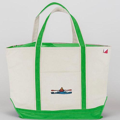 Large Island Green Tote Bag