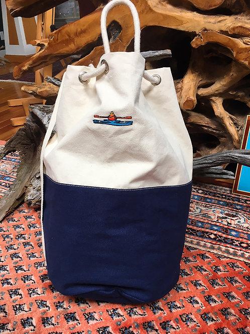 Large Duffle / Laundry Tote Bag - River Blue Color.