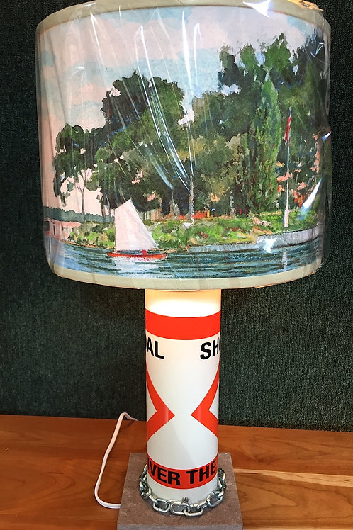 River Shoal Marker Lamp - SMALL TI Pavillion Shade