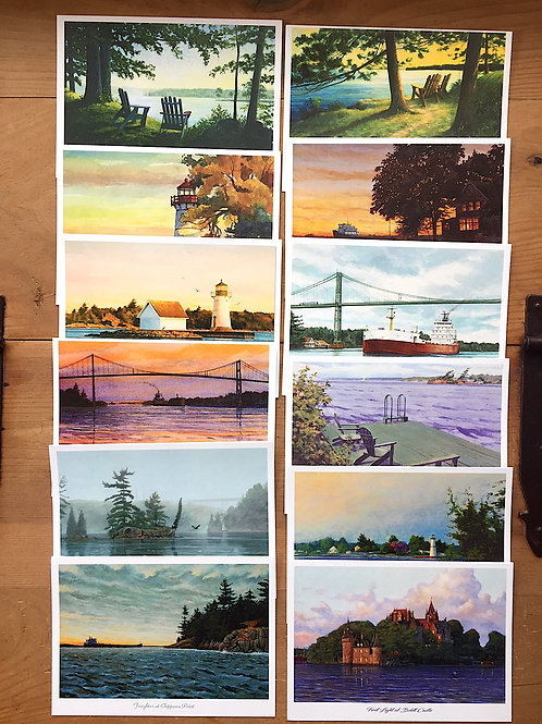 12 Assorted River Notecards