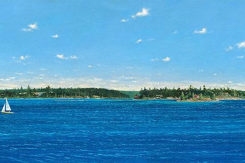 View from Cedar Isl Chippewa Bay