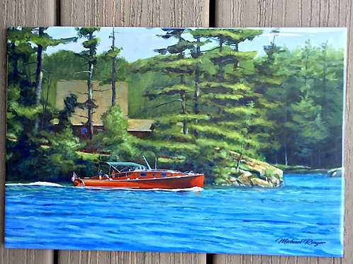 "Afternoon Cruise Tile 8"" X 12"""