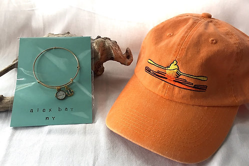 Alex Bay River Chart With Gold Tone Bangle & River Hat