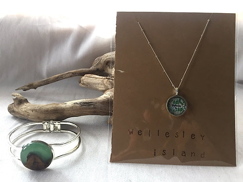 Wellesley Island Necklace & Artisan Bracelet