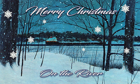 B Merry Christmas On the River Sign-1.jp