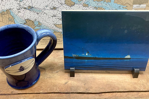 "Evening Laker 6"" X 8 "" Ceramic Tile ~ River Rower Mug"