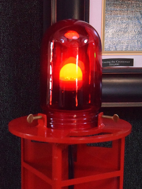 Red Channel Marker with Authentic Marine Glass Globe