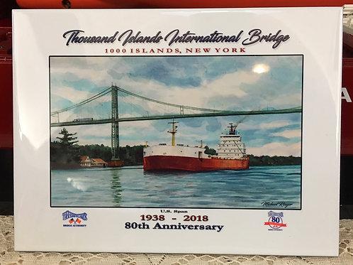 80th Anniversary Thousand Islands Bridge Commemorative Tile