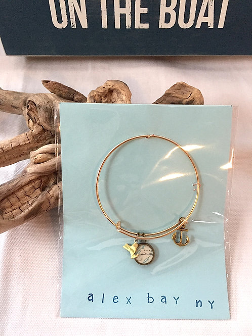 Alexandria Bay River Charm Bangle & Life is Better on the Boat Sign