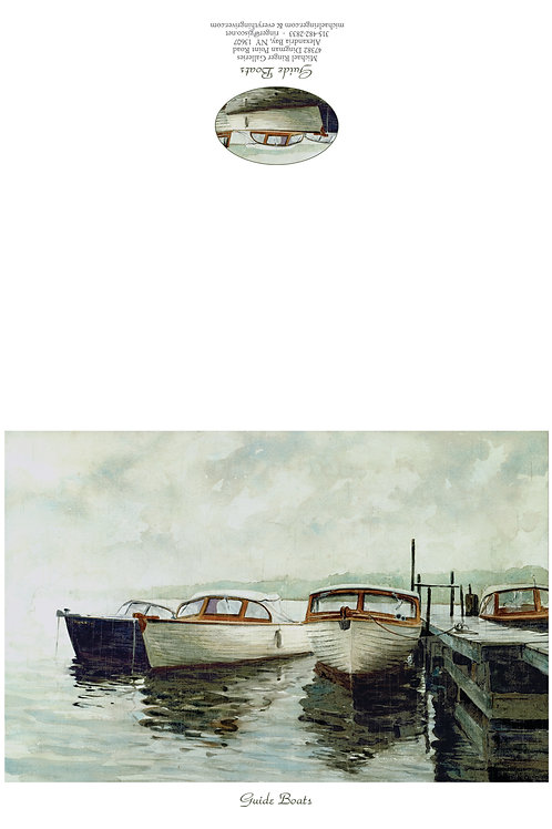 Guide Boats Notecard