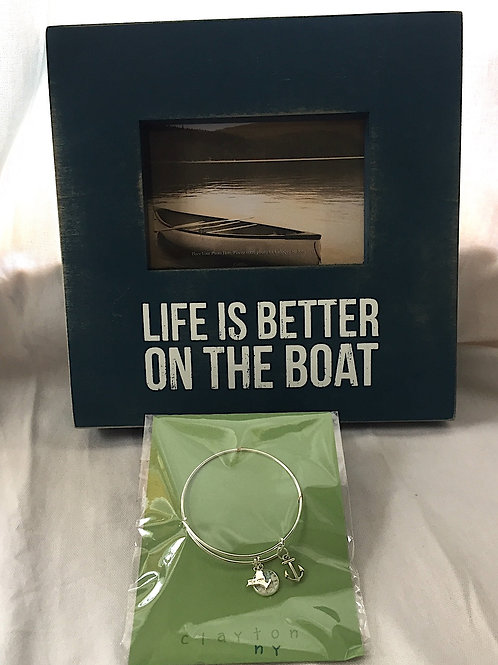 Clayton Bangle (Silver) & Life is Better on the Boat