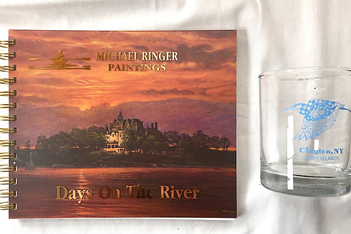Days On The River Journal & Heron Glass