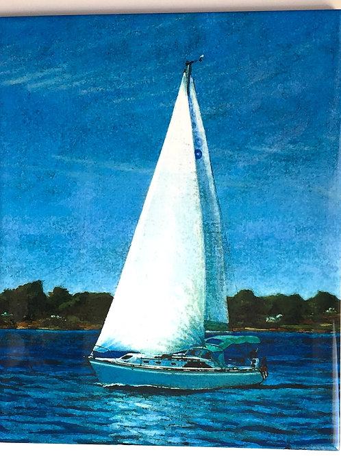 "Summer Sailing 8"" X 10"""