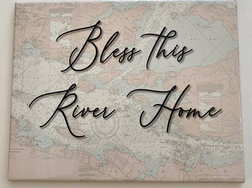"Bless This River House 8"" X 10"" Tile"