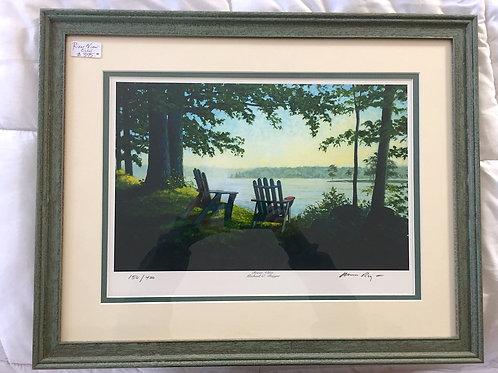 River View Framed Giclee Print