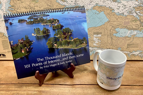 The Thousand Islands 101 Points of Interest & River Chart Mug
