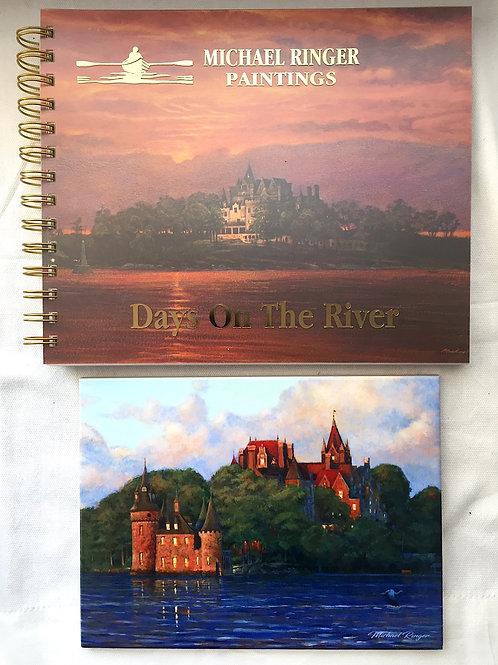 Days On The River Journal & 6 X 8 First Light at Boldt Castle Tile