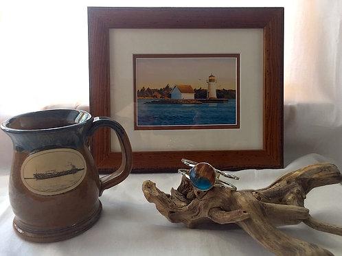 Sunken Rock Lighthouse Framed Card, River Mug & Artisan Bracelet