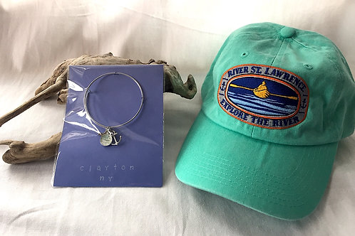 Clayton River Chart Silver Bangle & River Hat
