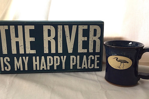 The River Is My Happy Place & Heron Mug