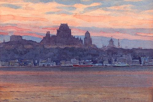 Quebec City at Dusk