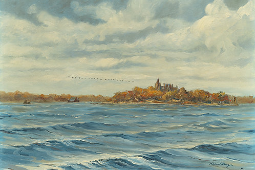 Geese Over Boldt Castle