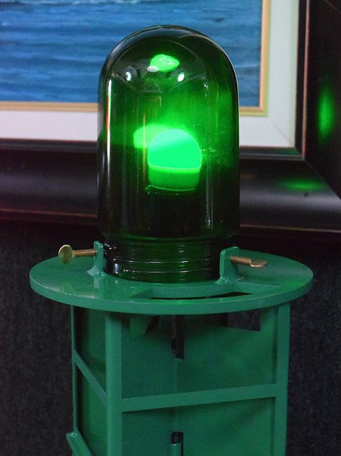 Green Channel Marker Authentic Marine Glass Globe