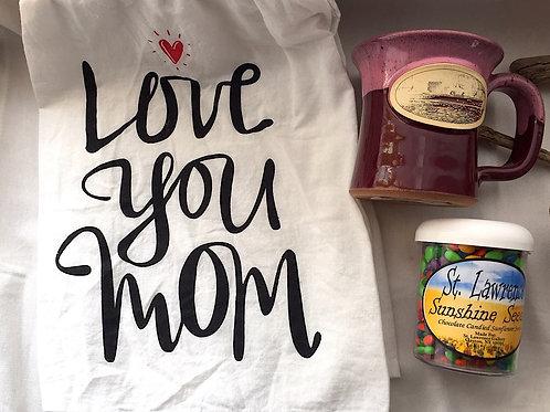 Love Mom Towel, Mug & Sunshine Seeds