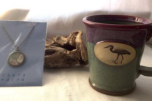 Fishers Landing Necklace & Heron Mug