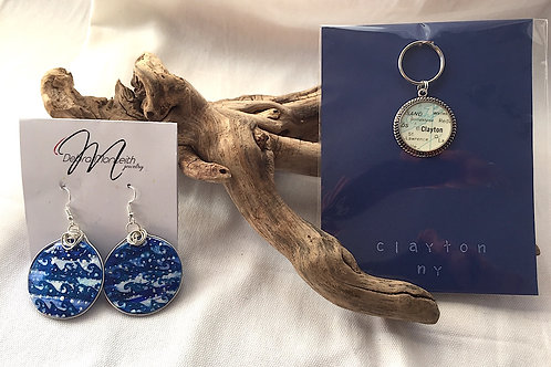 Clayton Keychain & Artisan Earrings