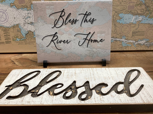 """Bless This River Home 8"""" X 10"""" Tile ~ Blessed Sign"""