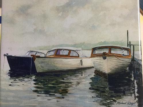 "Guide Boats - 8"" x 10""  Ceramic Tile"