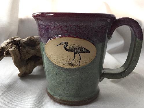 Heron Mug Purple