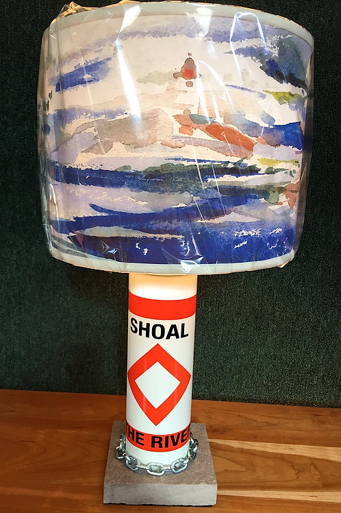 River Shoal Marker Lamp - SMALL North Country Perceptions Shade