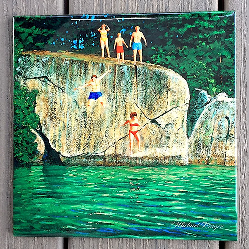 "Jumping Off Stovin Tile 8"" X 8"""