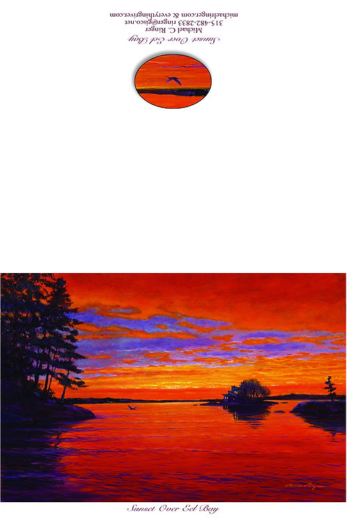 Sunset Over Eel Bay Notecard