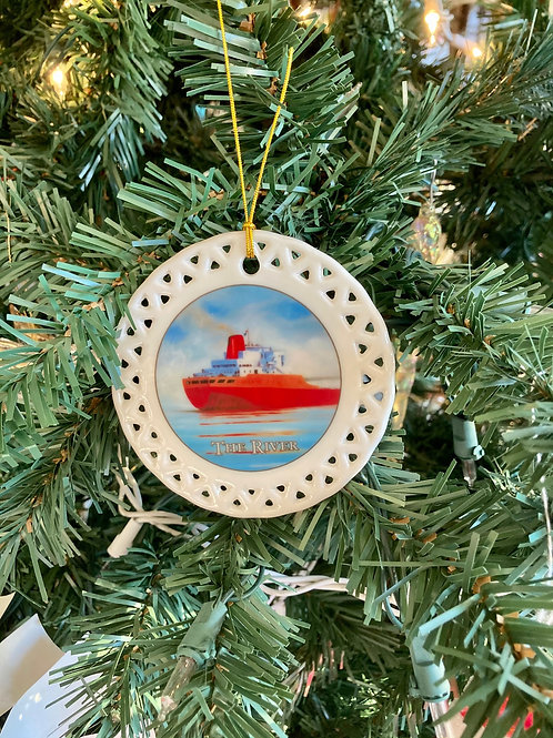 Sea Smoke  Ceramic Ornament