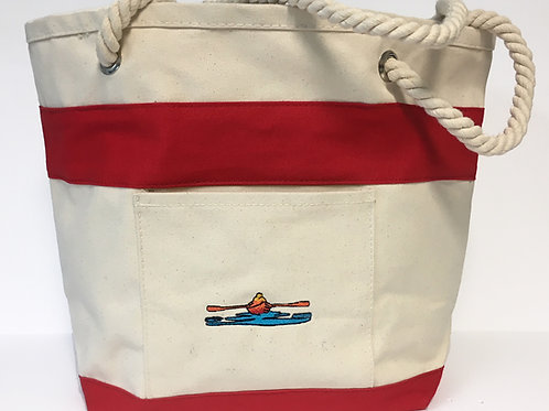 Red Trim Large Tote