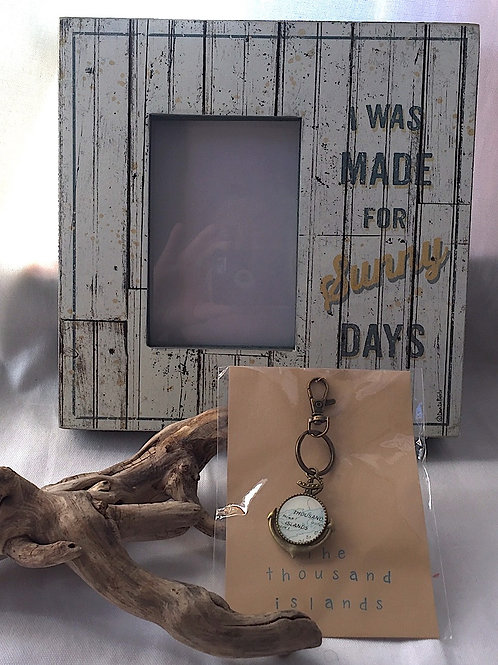 Thousand Islands Keychain & Made For Sunny Days Photo Frame